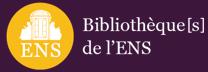 logo des bib de l'ENS